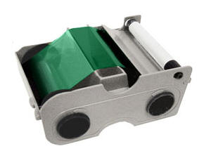44204 GREEN CARTRIDGE W/CLEANING ROLLER Ribbon - Green - 1000 Images - DTC300 ID card printers