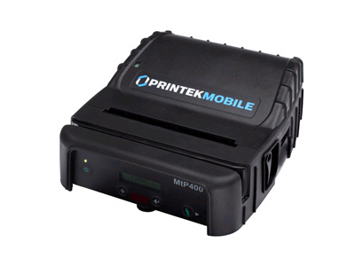 91813 MTP400 MOBILE PRINTER WITH BLUETOOTH MtP400 - Label Printer - Monochrome - Direct Thermal - 3.3 ips - 203 dpi - 4.1 in. Print Width - Serial; Bluetooth - RAM: 1 MB - Memory: 2 MB Flash, 1MB SRAM