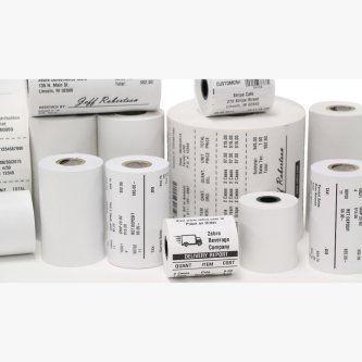 10007008-ROLL 8000D Kiosk 3.5 mil Receipt Paper (80mm x 645 Feet, 1 Inch Core - Single Roll)  8000D 80MM KIOSK RECEIPT MEDIA Zebra Receipt Paper Receipt, Paper, 3.125in x 645ft (79.4mm x 196.6m); DT, Z-Perform 1000D 3.5 mil, Value Uncoated, 1in (25.4mm) core, 645/roll, 8/box